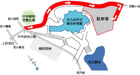 体育協会事務局 (総合体育館内)駐車場マップ